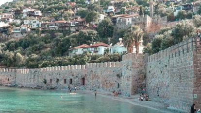 Tyrkia, Alanya, bymur, sjø, reise