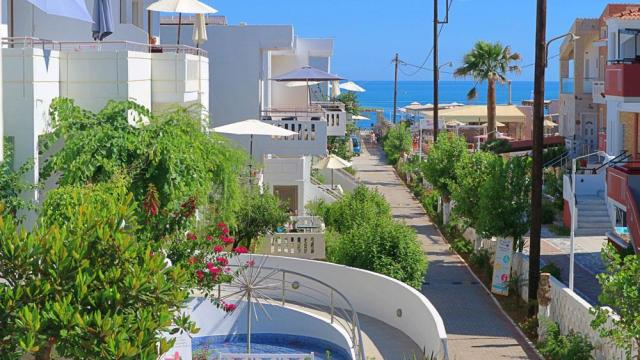 ギリシャ、クレタ島、プラタニアス、ソニオビーチホテル、混合旅行、旅行