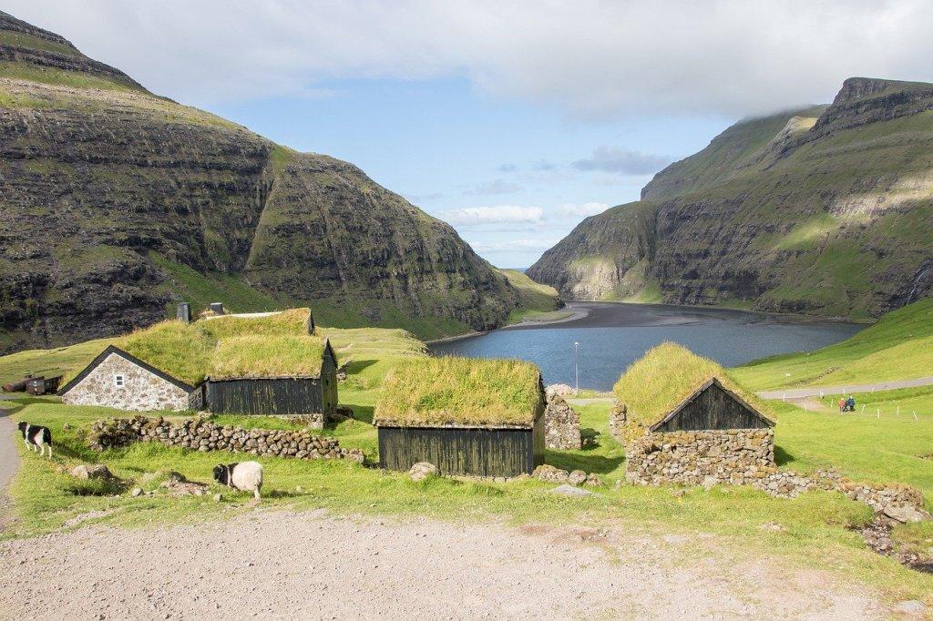 Quần đảo Faroe - Saksun, nhà ở - du lịch