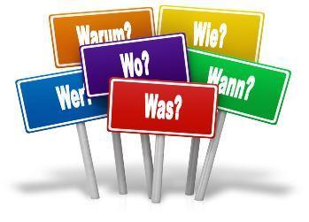 Die wichtigsten Frageworte dargestellt – damit Sie richtig fragen