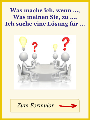 Ein Hinweis zum Formular individuelle Fragen auf der Seite Kundentreuecoach, der Reklamations-Experte