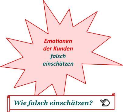 Kunden Emotionen falsch einschätzen - Start
