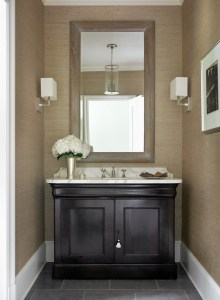 Powder-room-with-wallpaper.-The-wallpaper-in-this-powder-room-is-the-Philip-Jeffries-Metallic-Paper-Weaves-in-color-Titanium.-Interior-Design-by-Beth-Webb-Interiors.-