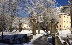 domaine du Pradau sous la neige