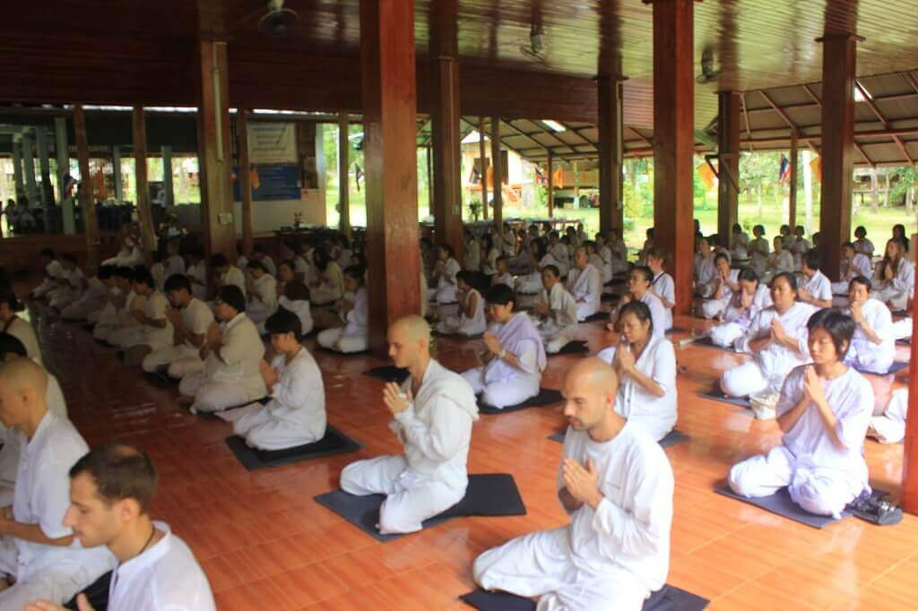 Vipassana centers in India where they practice the 10 day meditation