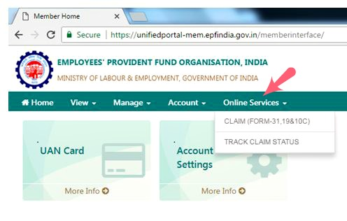 How to know EPF Claim status (or) PF Withdrawal Status online?