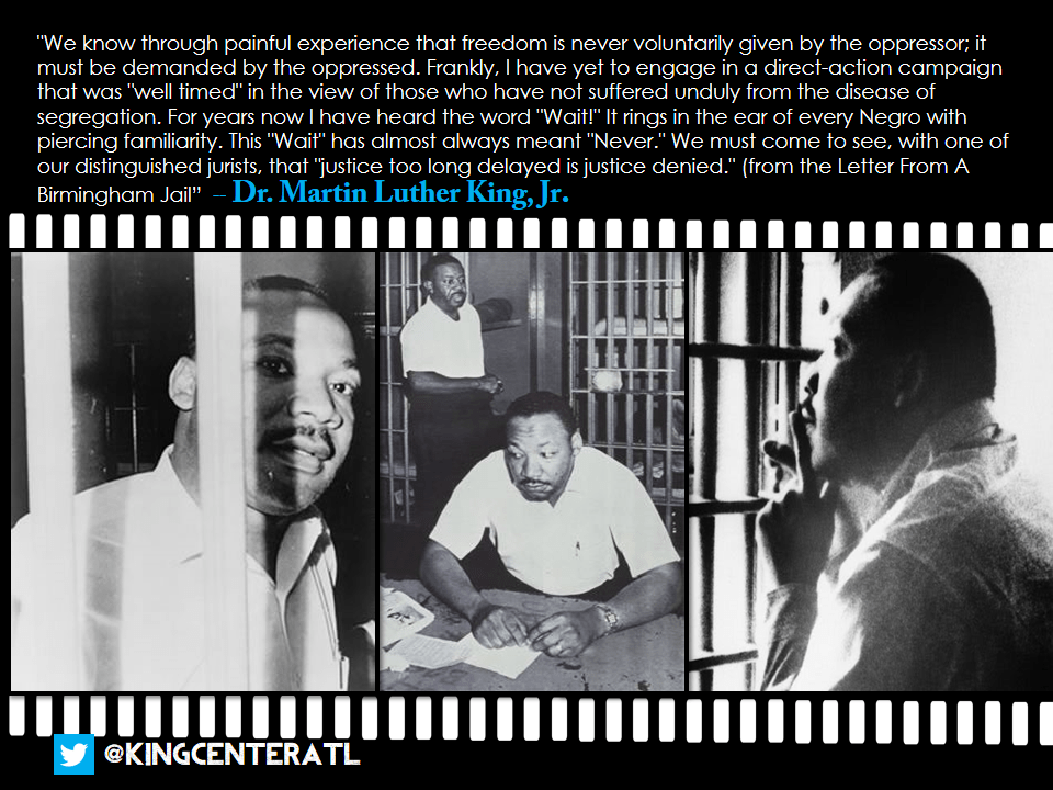 Quotes From Mlk Letter From Birmingham Jail: 50 Years Ago Today: Letter From Birmingham Jail