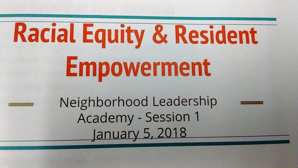 Neighborhood Leadership Academy Grand Rapids & A Starter List for Learning About Racial Equity