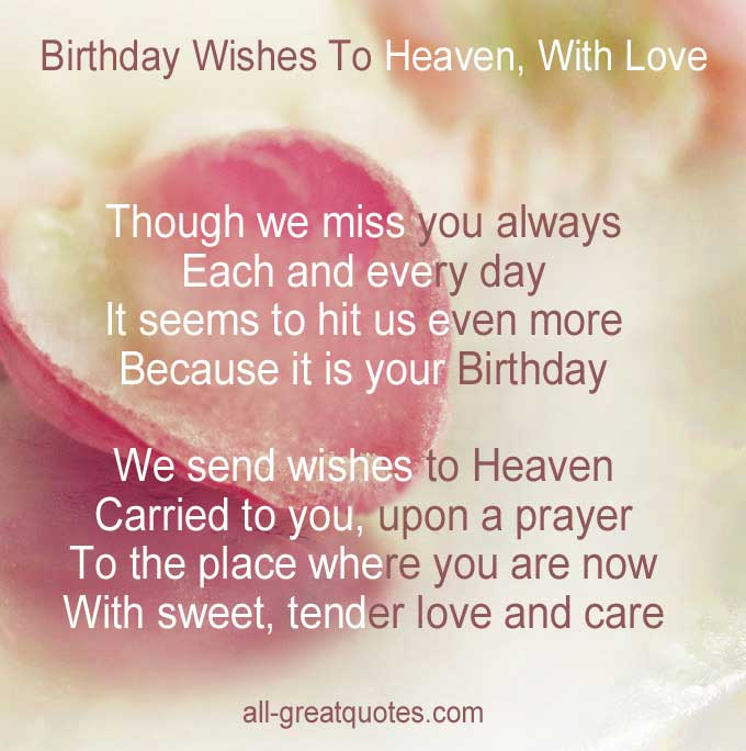 Husband Heaven Birthday Quotes My Happy
