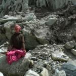 Nicole Jaquis at Gumukh Glacier, Gangotri National Park, Uttarakhand