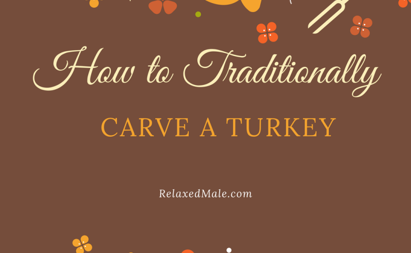 Relaxed males tips on how to carve a turkey for thanksgiving.