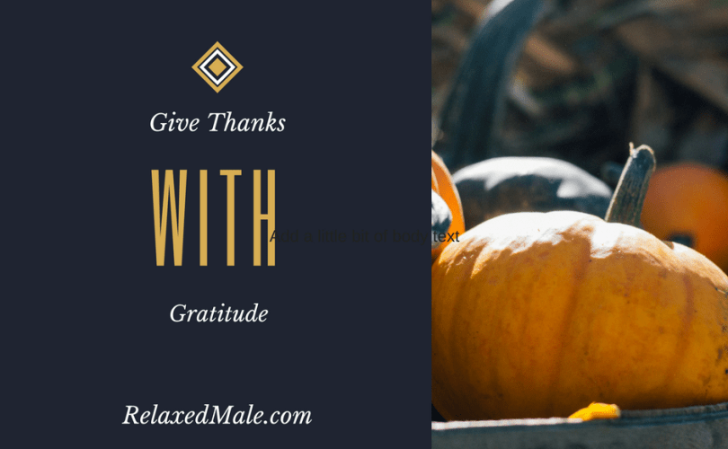 have gratitude in your heart when giving thanks