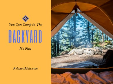 Need a place to camp but cant travel? Use your backyard.