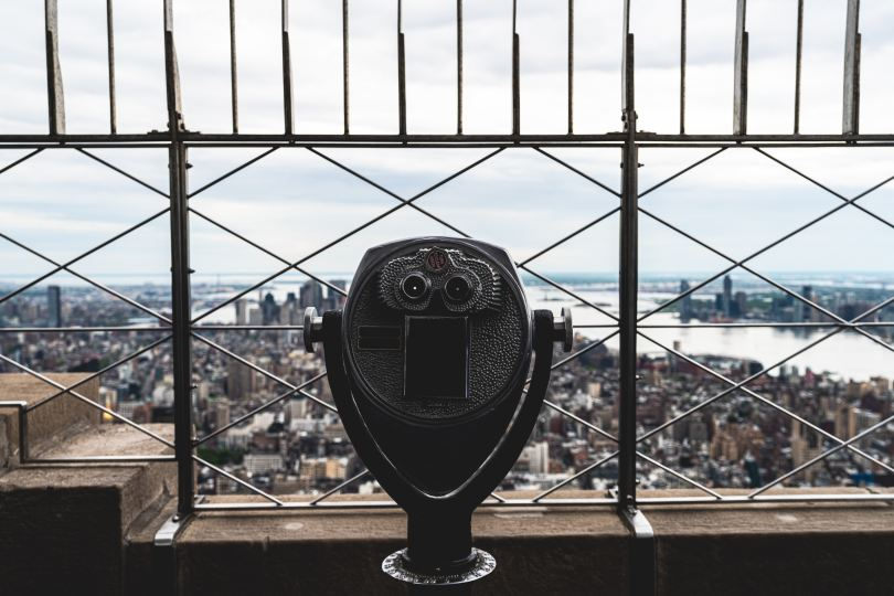 Some times searching for your purpose is like looking for a person from the observation deck