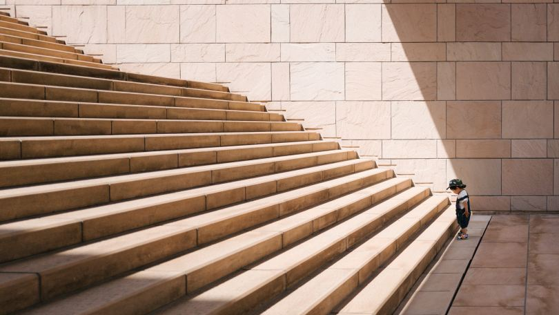 Your life purpose can be as daunting to you as to a child trying to climb stairs