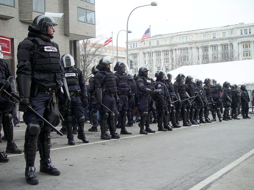 1024px January 20 riot cops D.C. Facing the Real Enemy