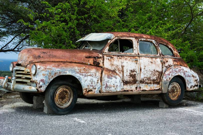 Like this broken rusted car, you too can be rusting without knowing it.