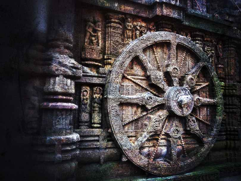 When you don't pursue your own improvement you begin to rust. brown carriage wheel