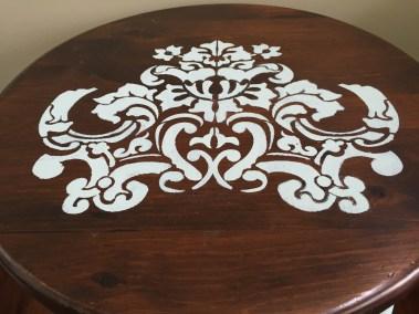 Closeup of the intricate stencil