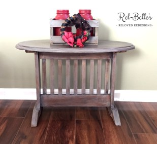 Oval Rustic Side Table
