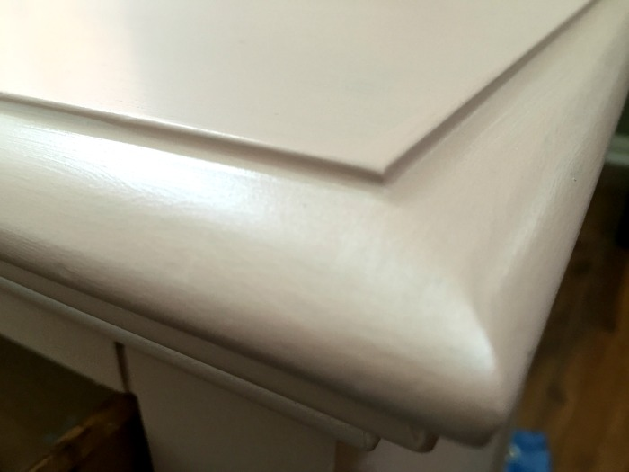 Sweet pink nightstand transformation with Rethunk Junk Paint