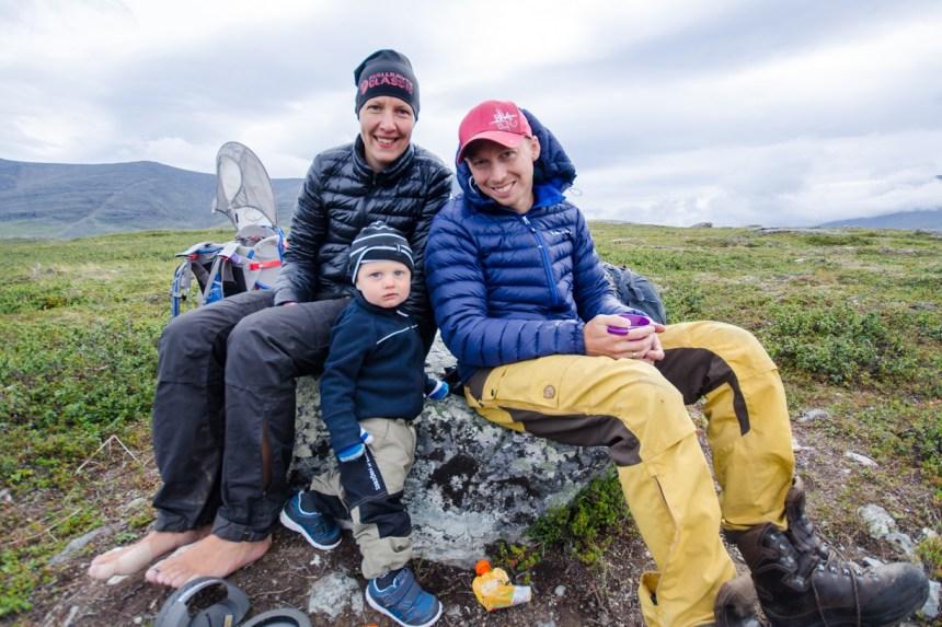 Familjen Reldin på Fjällräven Classic 2014. Foto Johan Remgård