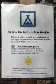 Regler för tältning vid Årsjön Tyresta
