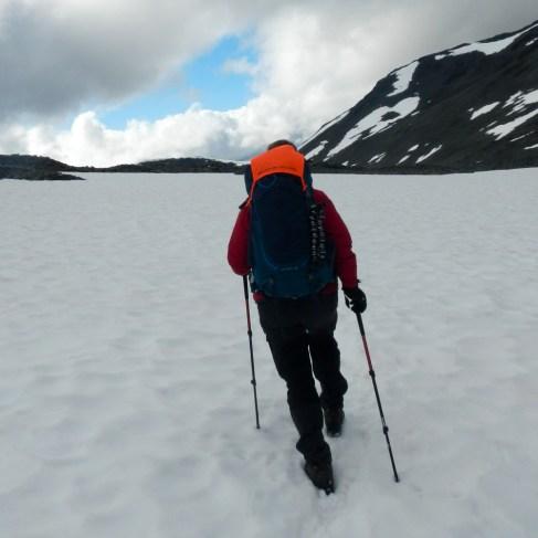 Snö på Durlings led - Kebnekaise