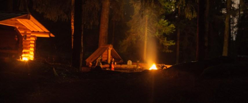 Reldin Adventures sover ute i januari vid Örnnästet på Lidingö