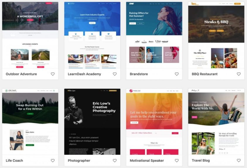 website themes