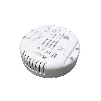 60W Round Dimmable LED Power Supply for 12V LED Lights