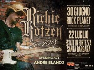 RICHIE KOTZEN: è ANDRE BLANCO l'opening act dei due appuntamenti estivi