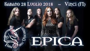 Concerto Epica alla Festa Dell'Unicorno a Vinci (FI) 28 luglio 2018