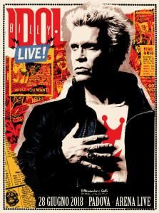 BILLY IDOL, annullato il concerto di oggi a Padova, biglietti validi per Alice in Chains!