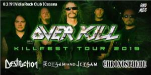 COMUNICATO UFFICIALE! Il concerto degli Overkill spostato dalla Zona Roveri al Vidia Club di Cesena!