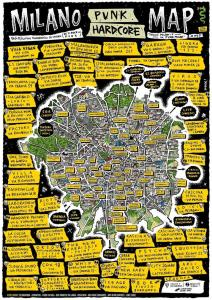 Esiste una mappa della storia del punk a Milano