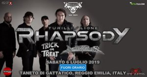Lione/Turilli Rhapsody: Trick or Treat e Ancient Bards live a Reggio Emilia
