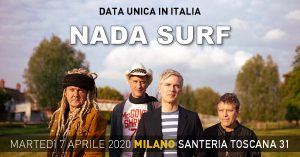 Nada Surf tornano in Italia ad Aprile 2020