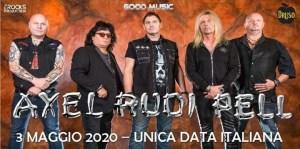 Axel Rudi Pell: live al Druso di Ranica (BG) il 3 Maggio 2020