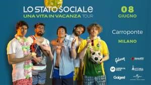 LO STATO SOCIALE al Carroponte di Sesto San Giovanni (MI) l'8 giugno 2018
