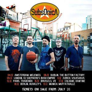 """Subsonica: """"8""""il nuovo disco in uscita ad ottobre 2018 e """"European reBoot 2018""""tour a dicembre!"""