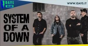 SYSTEM OF A DOWN:  cancellato concerto all'I-Days Festival