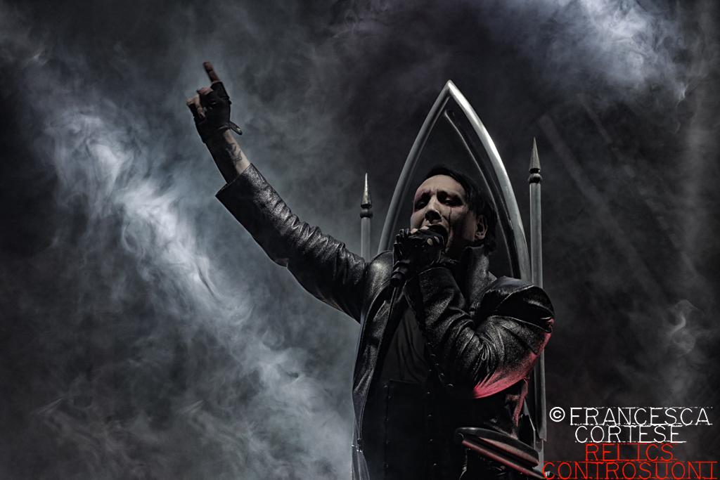 Marilyn Manson live @ Pala Alpitour, Torino (foto di Francesca Cortese)
