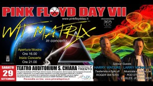 PINK FLOYD DAY 2018: Confermata la presenza di Harry Waters (figlio di Roger Waters) e Larry McNally.