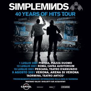 Riprogrammato per il 2021 il '40 Years Of Hits Tour' dei Simple Minds!