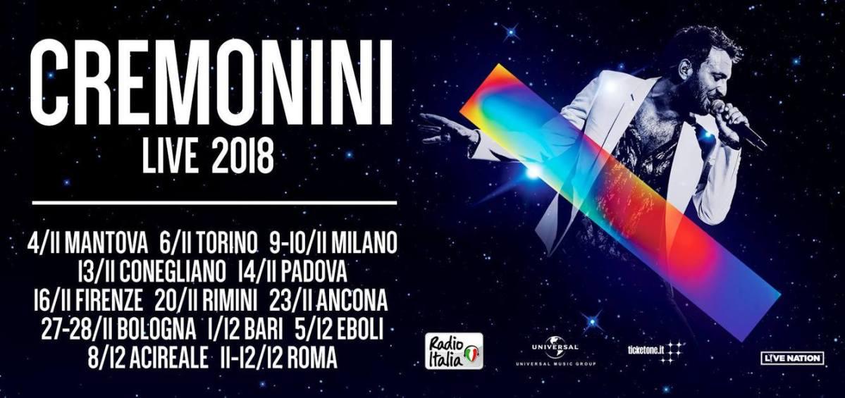 """""""Cremonini Stadi 2018"""" a novembre!"""