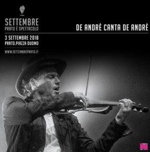 De Andrè Canta De Andrè live a Settembre Prato è Spettacolo
