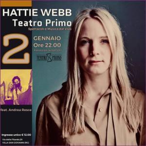 Al Teatro Primo il live di Hattie Webb