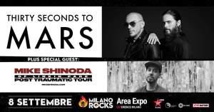 MIKE SHINODA: si aggiunge alla line-up di Milano Rocks nella stessa giornata dei Thirty Seconds to Mars