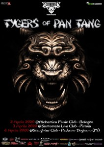 TYGERS OF PAN TANG: tre date in Italia ad Aprile